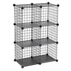 INSPIRACCI - Armario Organizador Metálico Transportable 8 Cubos