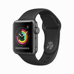 Apple - Apple Watch S3 38mm Spgrey Blk Eol