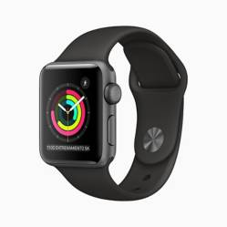 Apple Watch S3 38MM Spgrey Blk Eol