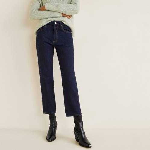 Jeans rectos recortados