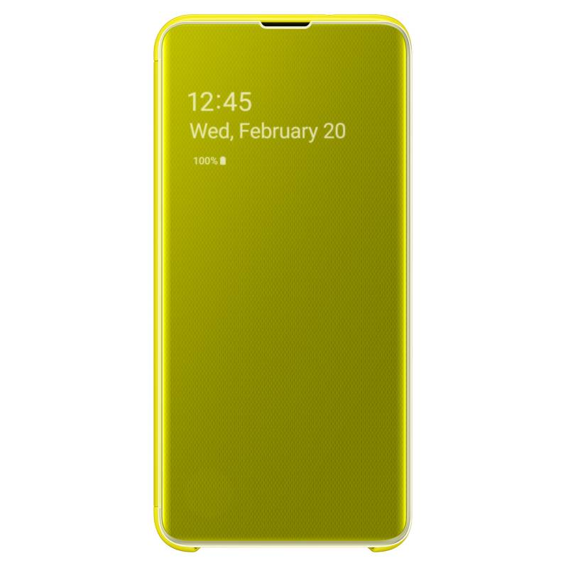 Samsung - Carcasa Amarilla Clear View Cover