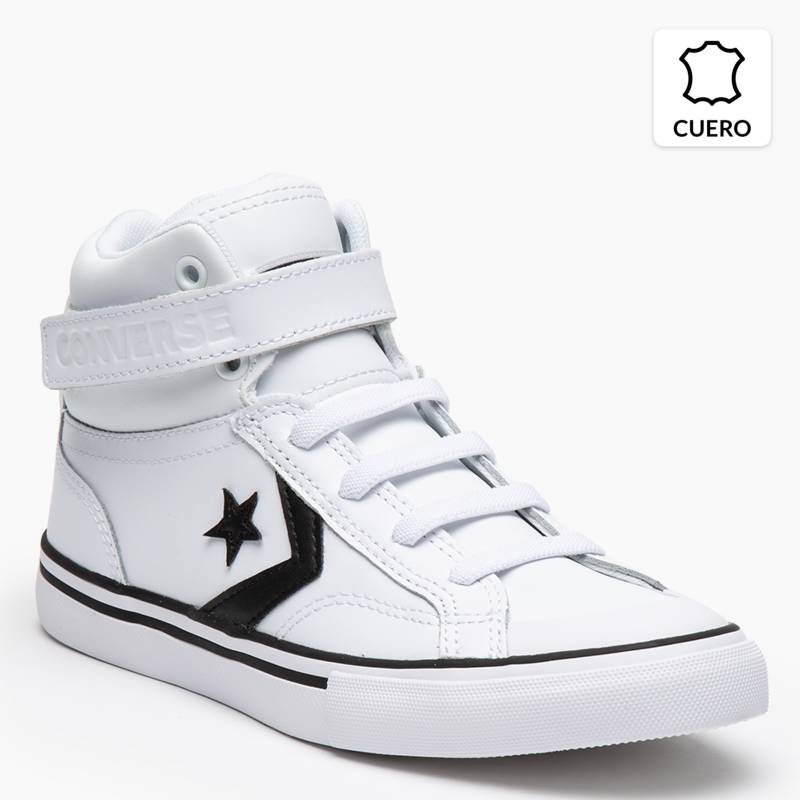 lista Simetría Tanga estrecha  Converse Pro Blaze Strap Zapatilla Urbana Niño Blanco - Falabella.com