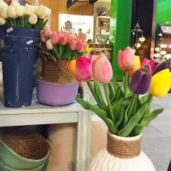BRUCO STORE - Ramo Tulipanes de Seda (6 Unidades)