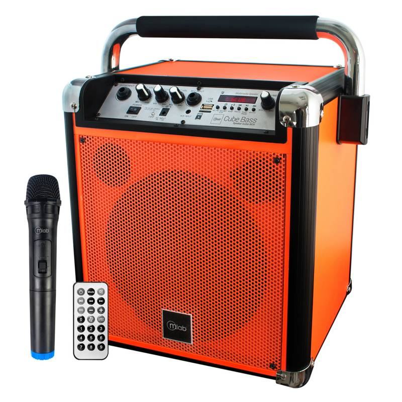 Mlab - Karaoke Cube Bass Mic Orange 7835