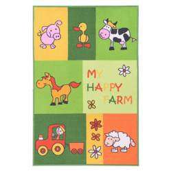 Alfombra Estampada Rectangular Nylon Happy Farm