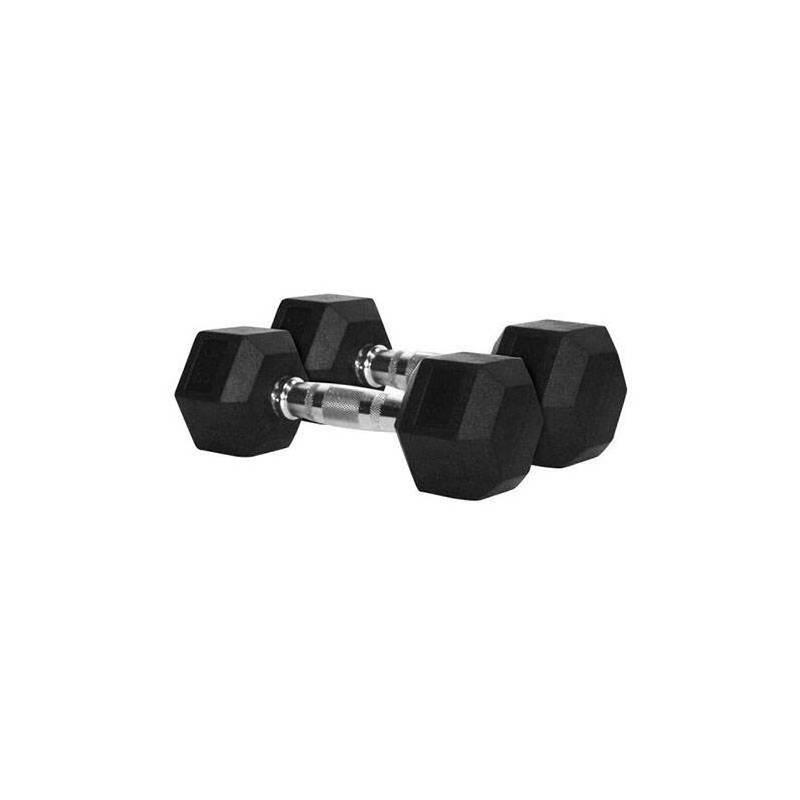 Fitness Mancuernas Hexagonales de Caucho Par 12,5 Kg