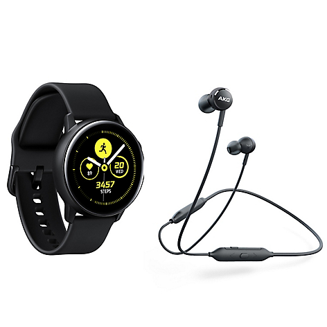 f7be840f1 Samsung Galaxy Watch Active Sport Black + Audífonos AKG Y100 ...