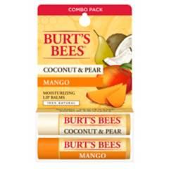 BURTS BEES - Bálsamo labial Burt's Bees Coco y Pera & Mango pack 2 un