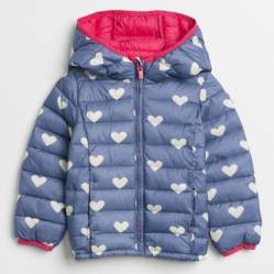 Parka Puffer Toddler Girl Azul Marino