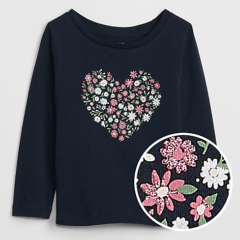 Polera Toddler Girl Azul Oscuro