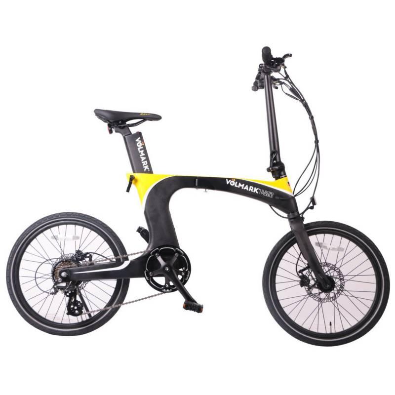 VOLMARK - Bicicleta Eléctrica Plegable Galaxy Amarilla