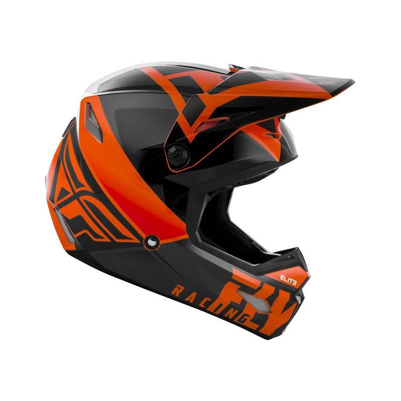FLYRACING - Casco Mx Orange/Black