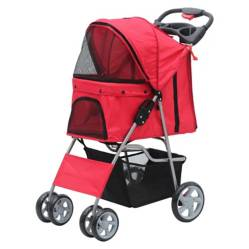 PAWISE - Pawise Coche Para Perro Rojo 68 x 46 x 100 cm