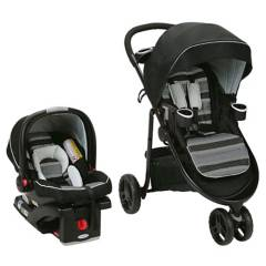 Graco - Coche Travel System FastAction Solar base isofix