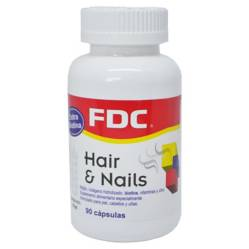 Fdc - Vitaminas para Pelo y Uñas - Hair And Nails x 90 Caps