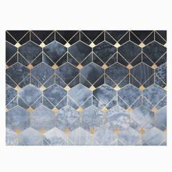 IMPRESIONARTE - Individuales Blue Hexagons And Diamonds