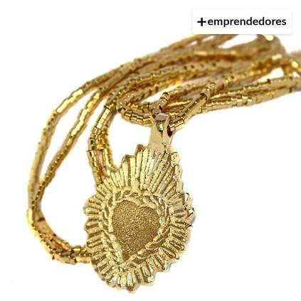 7b0ee35d45cf La Bendita Joya. Collar Oro Corazón