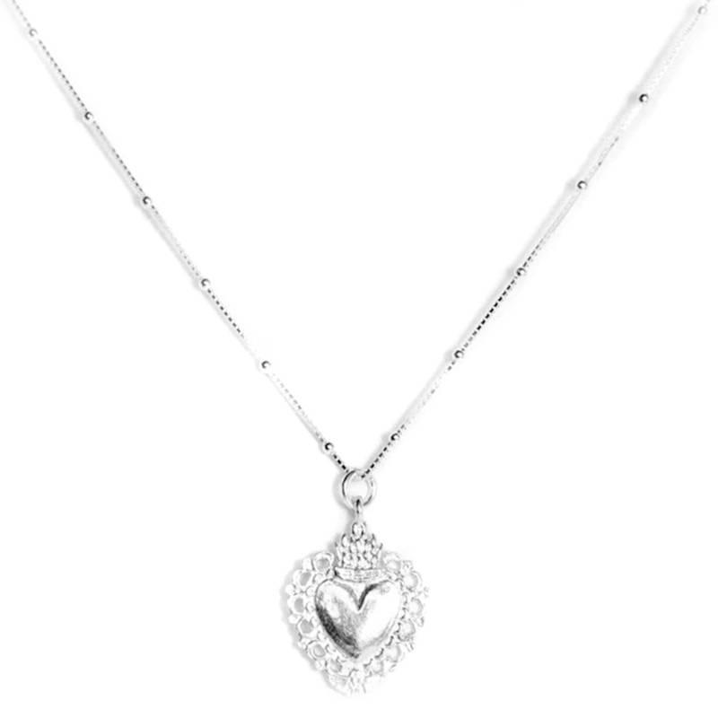 LA BENDITA JOYA - Collar Corazón Plata