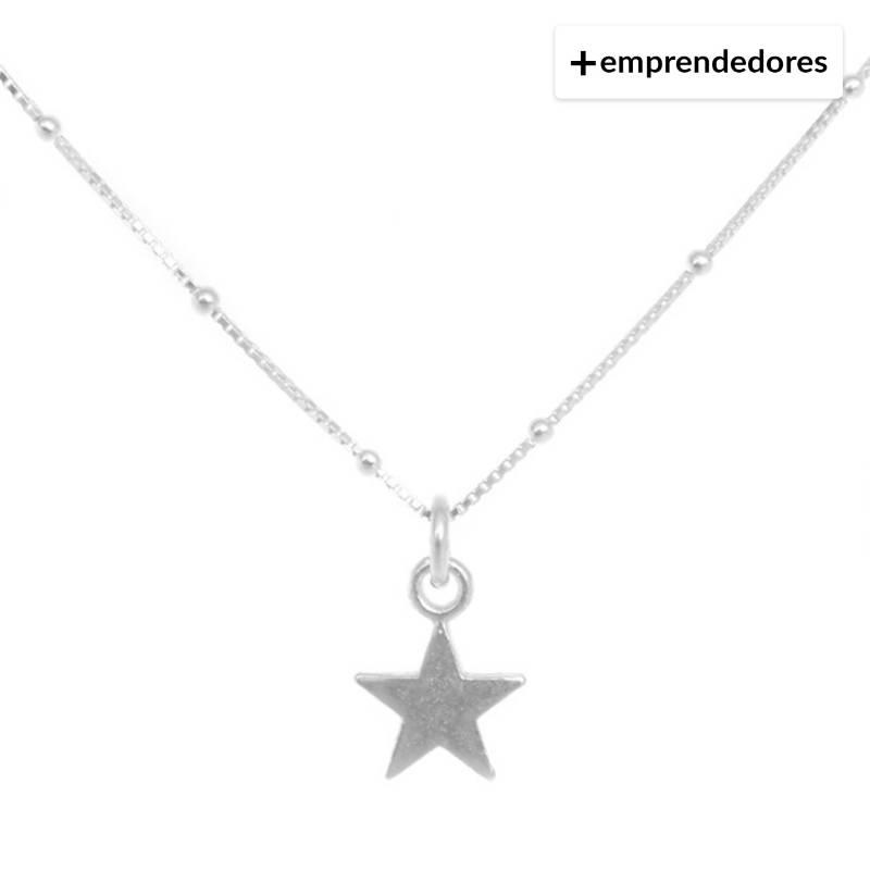 LA BENDITA JOYA - Collar Una Estrella Plata