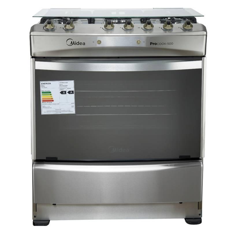 Midea - Cocina 5 Quemadores MCG-5QI30AME5