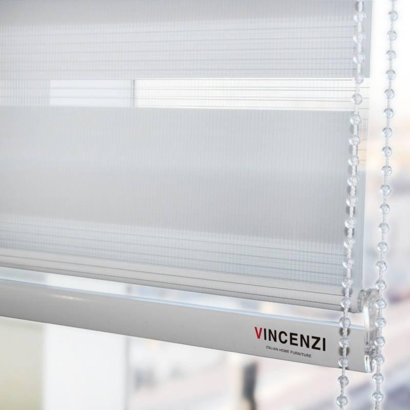 Vincenzi - Cortina Roller Duo Blanca 160 X 160 Cm