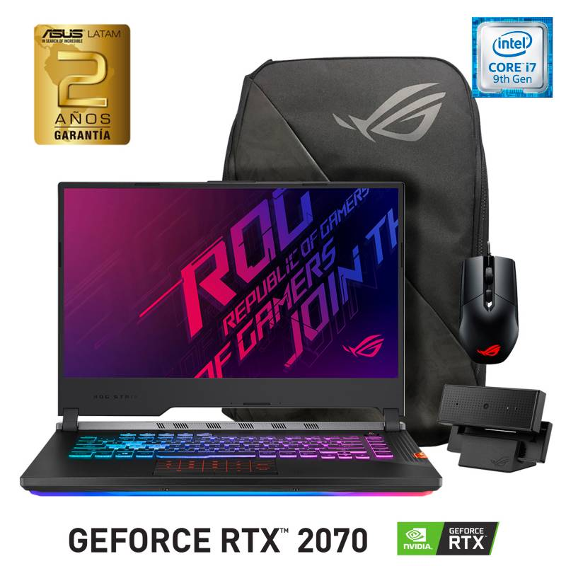Asus - Notebook ROG Strix Scar III Intel Core i7 16GB RAM-512GB SSD NVIDIA GeForce RTX 2070 15.6""