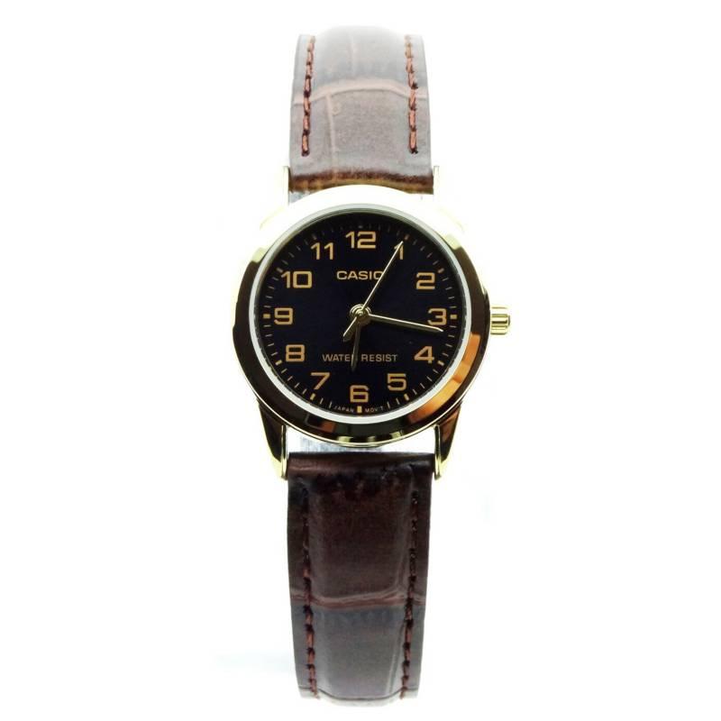 Casio - Reloj Mujer Cuero LTP-V001GL-1B