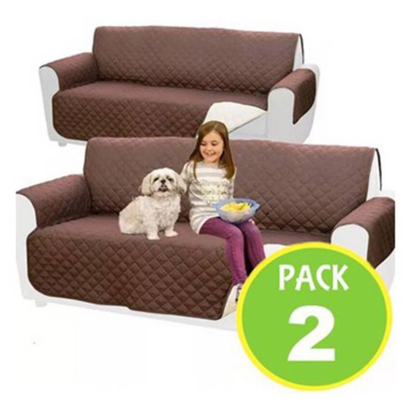 GENERICO - Pack 2 Fundas Cubre Sofa 2 Cuerpos