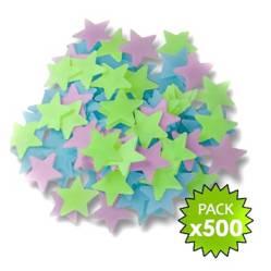 Requeteofertas Paquete de 500 Estrellas Fluorescentes Fosforecent