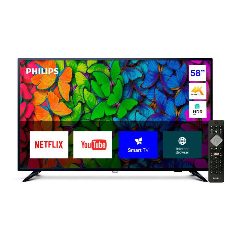 """Philips - LED 58"""" 58PUD6513/44 4K Ultra HD Smart TV"""