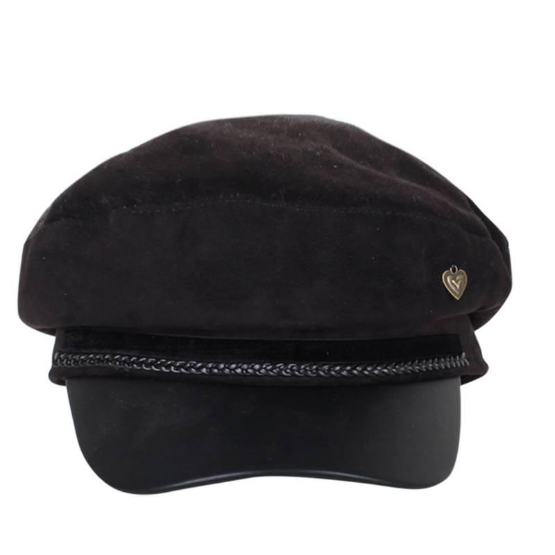 SANTA PECADORA - Gorro baker boy hat gamuza