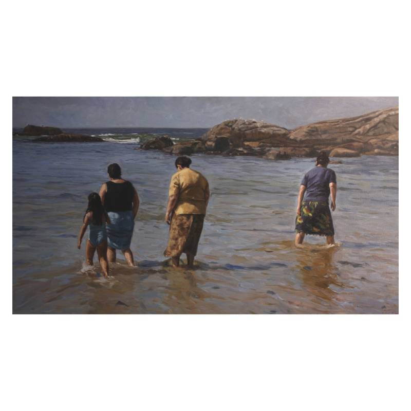 ARTE ONLINE - Cuadro Paseo A la Playa