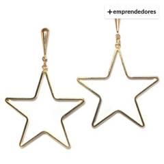 LA BENDITA JOYA - Aros Estrella Baño de Oro