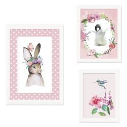 Set Collage 3 Cuadros Infantiles Sweet Pink