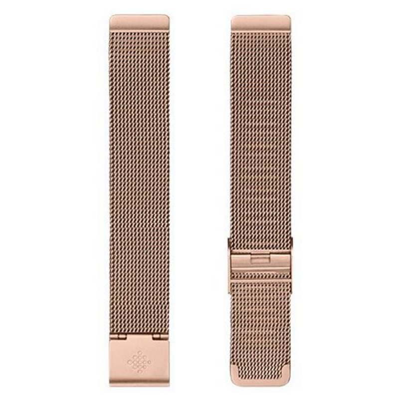 Fitbit - Pulsera Metal Fitbit Inspire Oro Rosa Talla Única