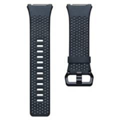 Fitbit - Pulsera Cuero Perforado Fitbit Ionic Azul Talla S