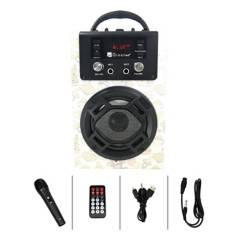 GREEN E - Green E Parlante Karaoke Portátil Bluetooth Radio FM USB