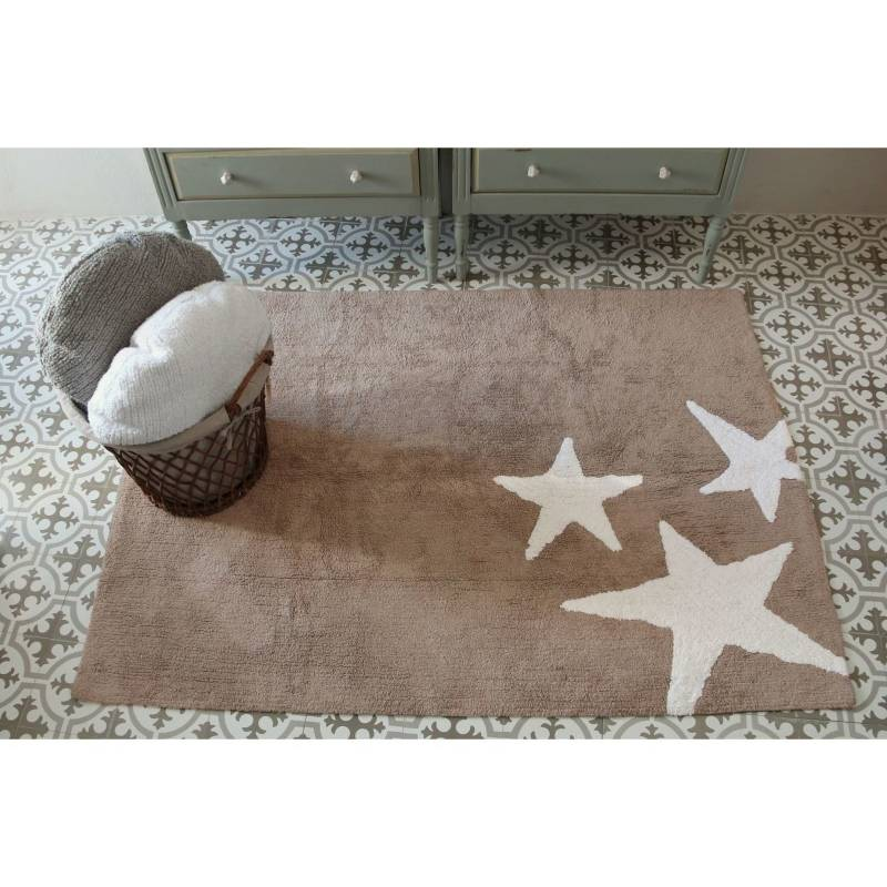 SUR DISEÑO - Alfombra Tres Estrellas Lino Blanco 120 X 160 Cm