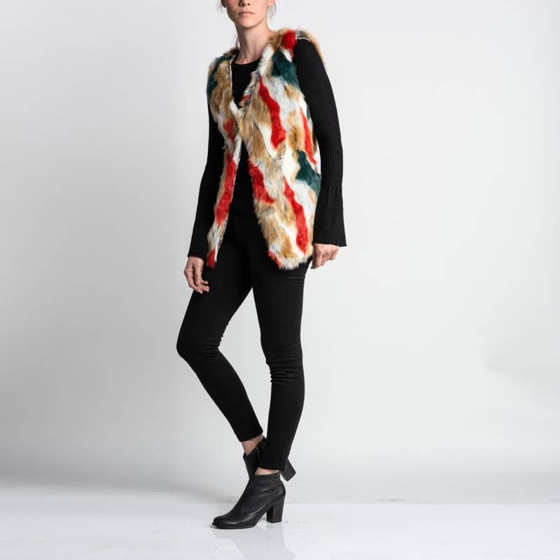FASHION IT - Kimono Gillet Piel Pintado