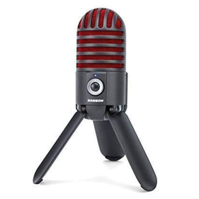 Samson - Micrófono Estudio Meteor USB-Negro/Rojo Edicion Limitada