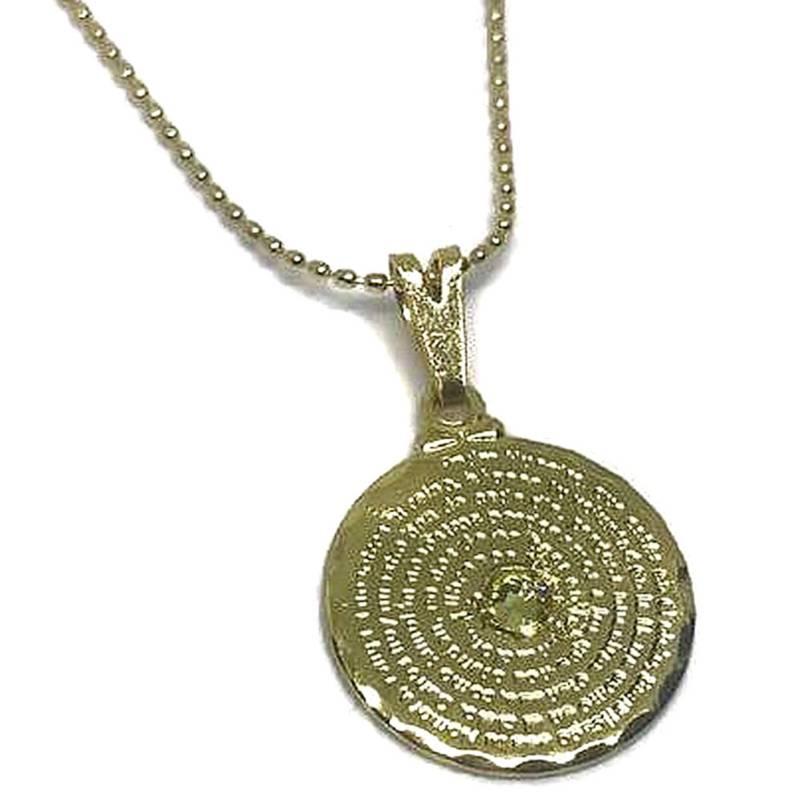 GLOSS CRYSTAL - Collar Padre Nuestro Oro Cristal Genuino