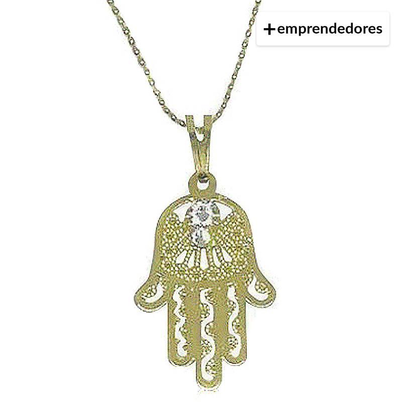 GLOSS CRYSTAL - Collar Mano Fátima Oro Cristal Genuino