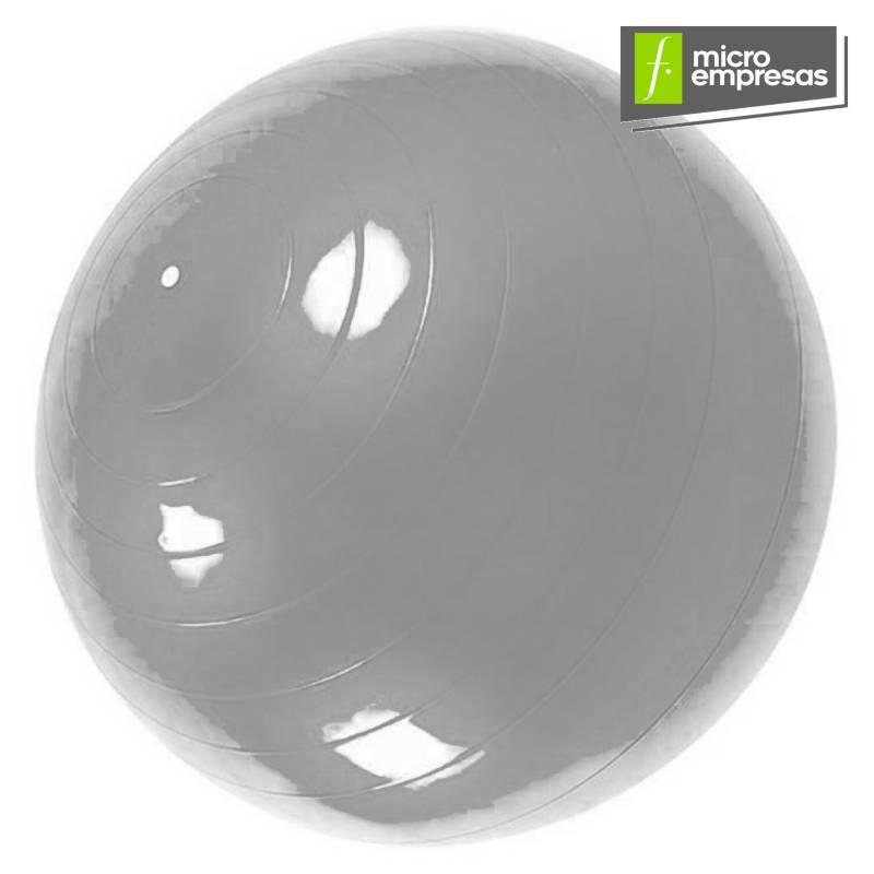 Generico - Pelota Balón 65 Cm + Inflador Yoga Pilates Gris