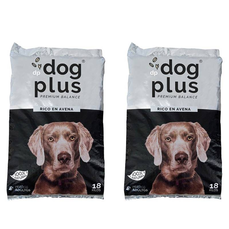 DOG PLUS - Alimento de Mascota Premiun  Avena 100% Natural