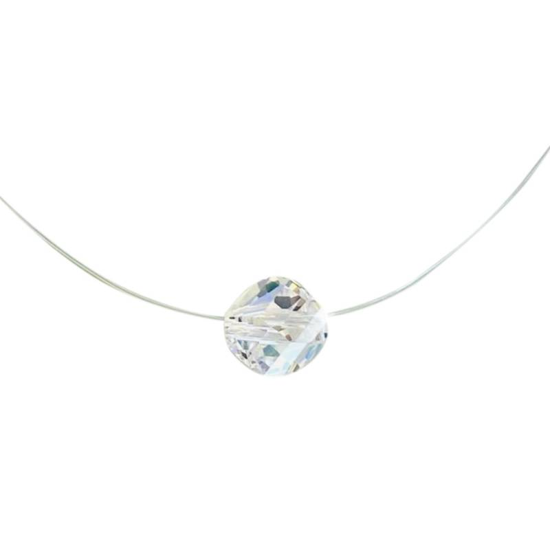 GLOSS CRYSTAL - Collar Punto Luz Hilo Cristal Genuino
