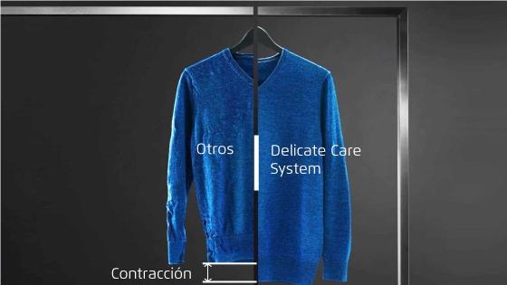 Con la Fensa perfect care Europe 8D las sedas conservan su forma y la ropa de lana no se achica.