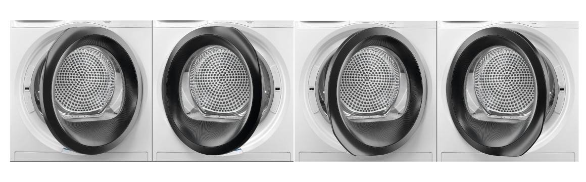 La puerta de tu secadora Fensa Europe 8D, puede colocarse en cuatro posiciones diferentes.