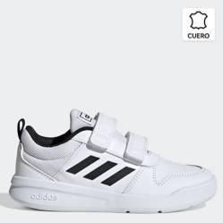 Adidas - Tensaur C Zapatilla Deportiva Unisex Cuero Blanca