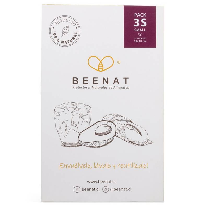 BEENAT - Envoltorios Reutilizables de Alimentos Pack 3S