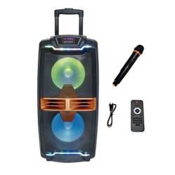 "Parlante Mega Bass Karaoke Bluetooth 80W 2X10"""